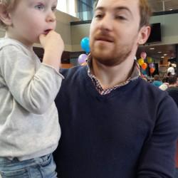 Sinterklaas op Daddy's werk