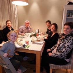 Familiefoto met kerst