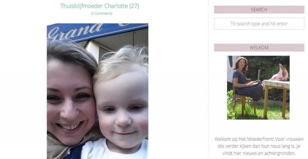 Thuisblijfmoeder Charlotte (in de media)