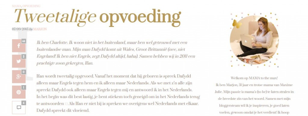 Tweetalige opvoeding (in de media)