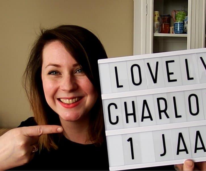 Lovely Charlotte 1 jaar! Dankjewel!