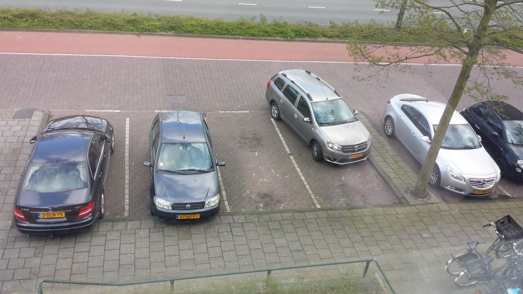 Parkeren is een vak apart ;-)