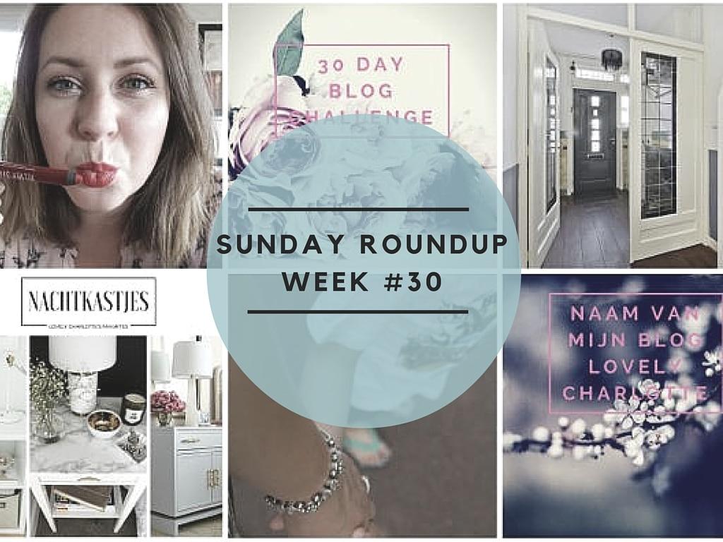 Sunday Roundup Week #30