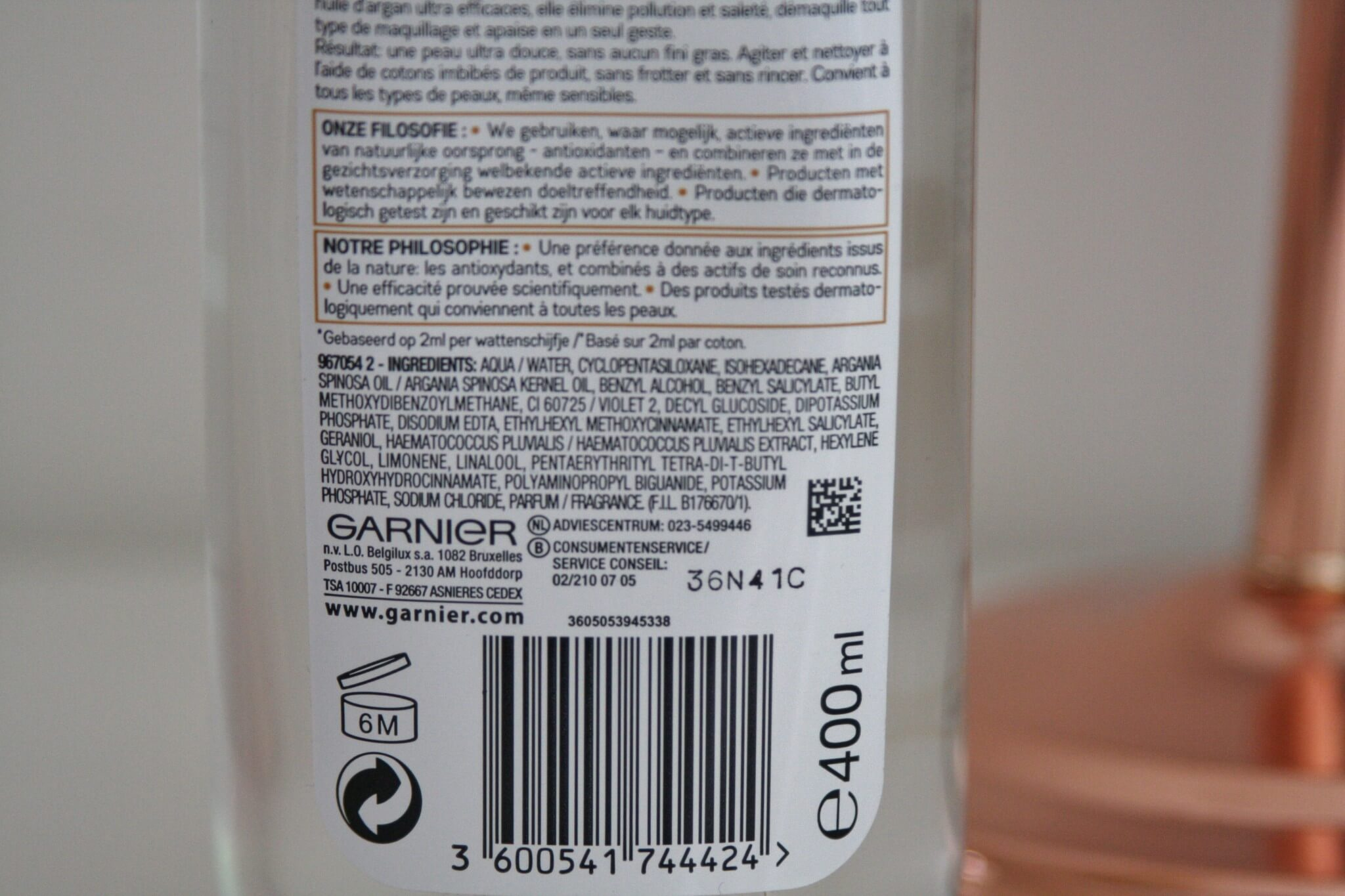 Garnier Micellair Water in Olie