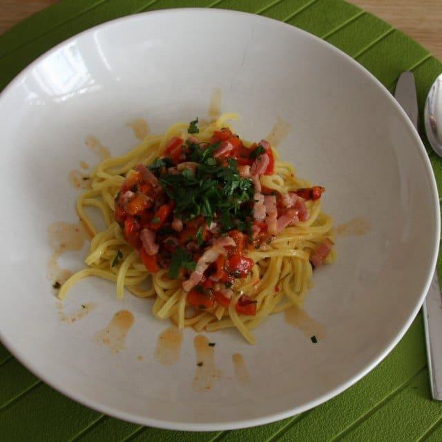 Recept | Pasta met gegrilde paprika & citroen