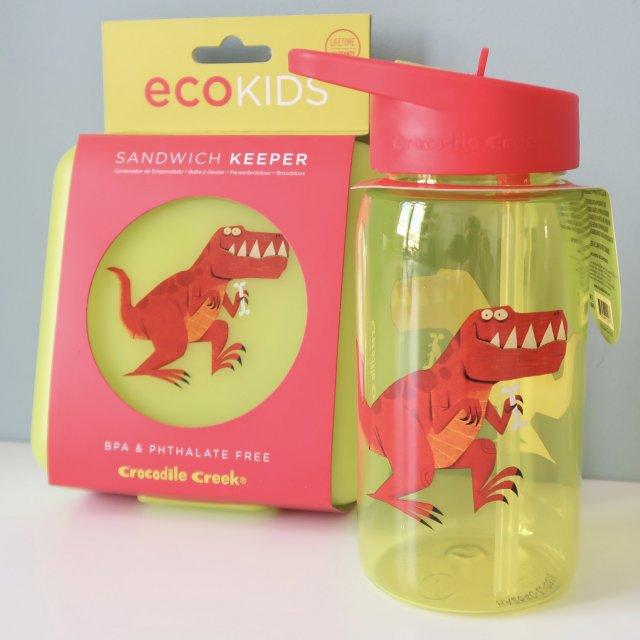 LC ♡ Giveaways   #5 Fles en lunchtrommel T-Rex van Crocodile Creek