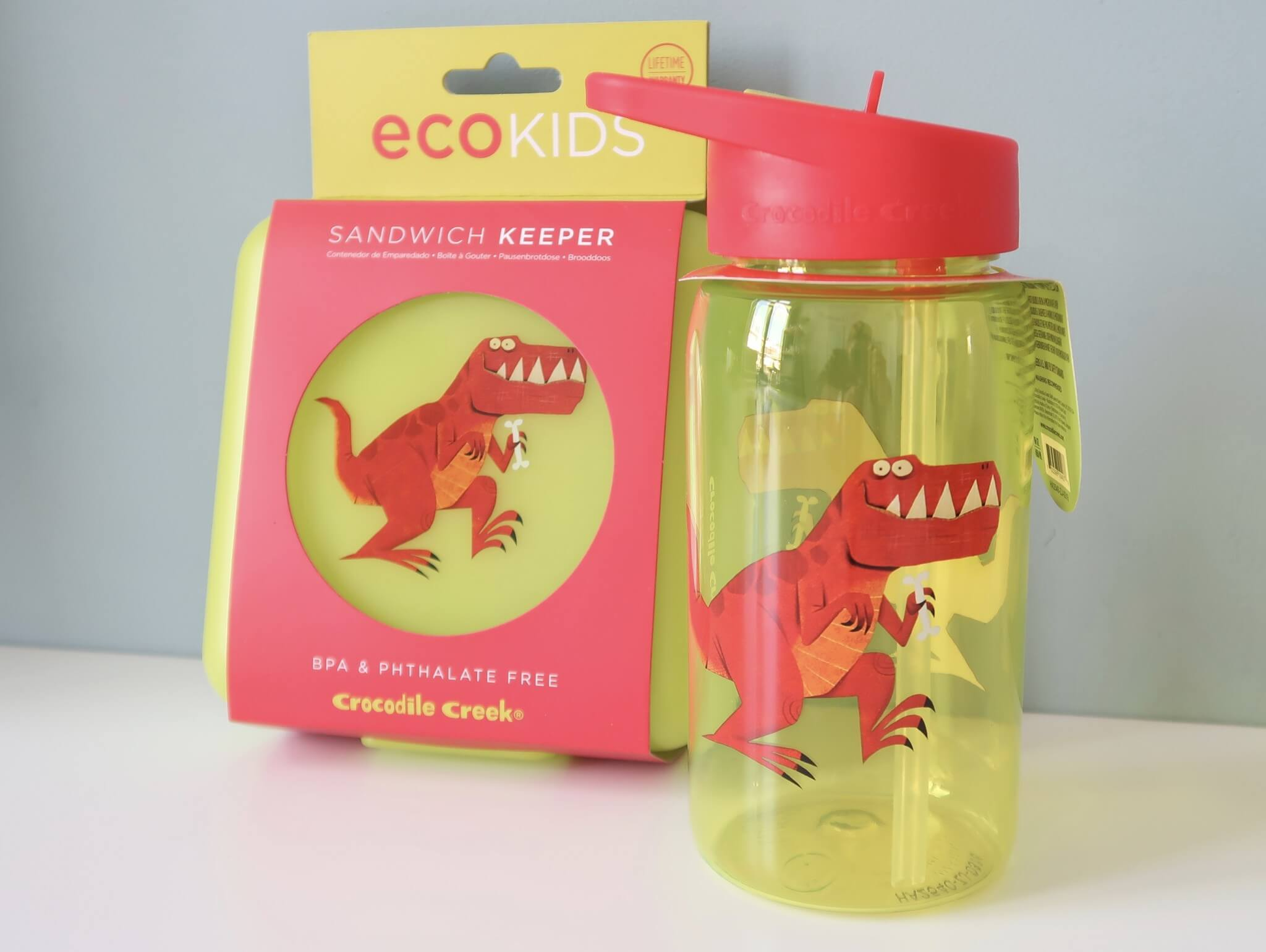 LC ♡ Giveaways | #5 Fles en lunchtrommel T-Rex van Crocodile Creek