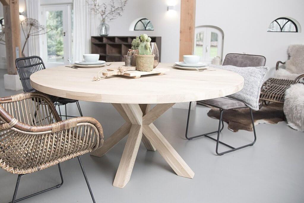Ronde Eethoek Tafel : Interieur inspiratie een ronde eettafel lovely charlotte