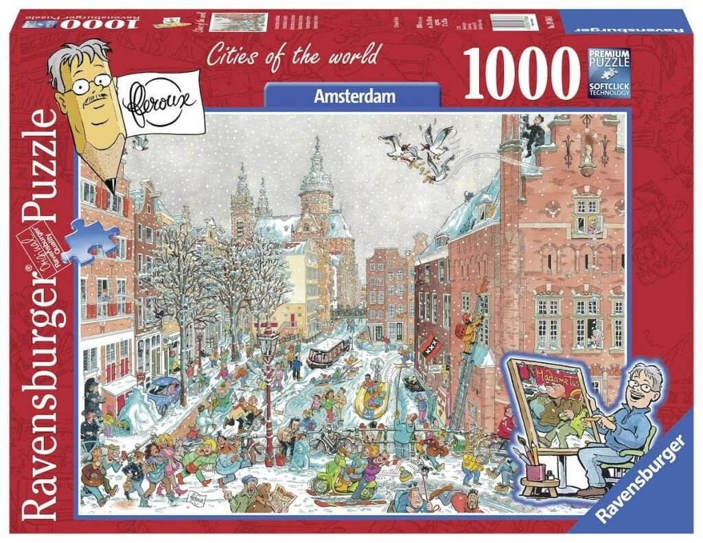 Verjaardag Giveaway #19 | Legpuzzel 'Amsterdam in winterse sferen'