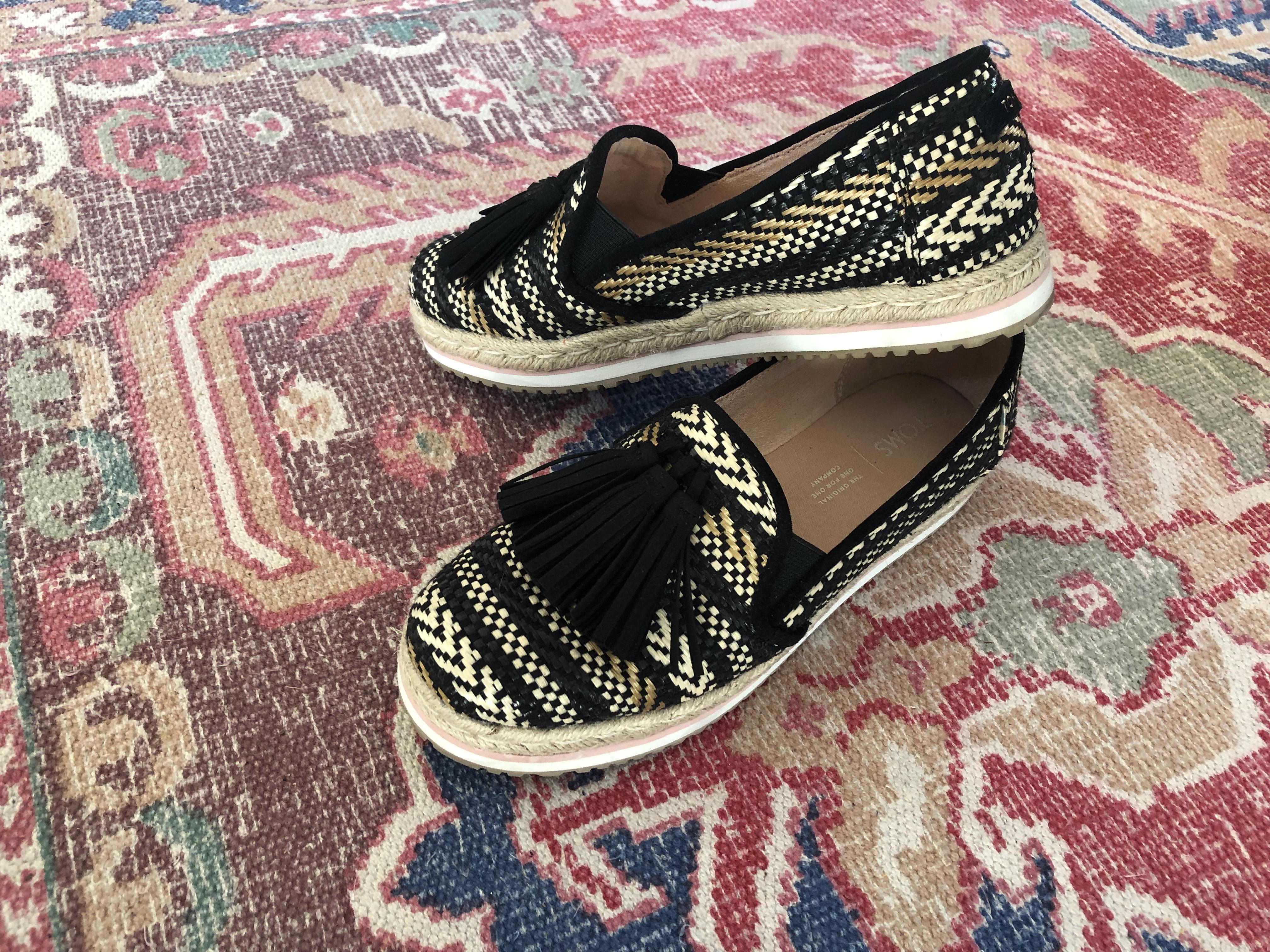 Een duurzamer leven met duurzame fashion!   TOMS Palma Tassel Espadrilles